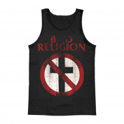 Bad Religion Men's Distressed Crossbuster Mens Tank XX-Large Black