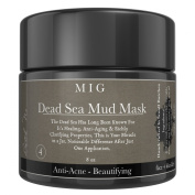 Organic Dead Sea Mud Mask By MIG Soap & Body Co Facial Acne Blackheads Pimples Scars Treatment Wrinkle Reduction with Dead Sea Minerals to Help Pull Toxins From Skin Natural Moisturiser Skin Cleaner