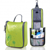 AoMagic Anti-tear Nylon Fabric Cosmetic Bag Large Capacity Travel Toiletry Bag Green