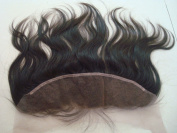 top quality unprocessed peruvian virgin hair body wave 33cm x 10cm bleached knot lace frontal