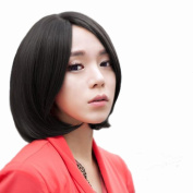 RightOn New Popular 32cm Short Bang Hair Wig With Free Wig Cap and Comb