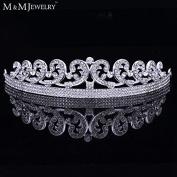 Classic Queen Rhinestone Crystal Crown Tiara Bridal Wedding Hair Jewellery Wedding Hair Accessories