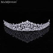 Luxurious Crystal Leaf Tiara Crown Wedding Hair Accessories Bridal Hair Jewellery Wedding Accessories