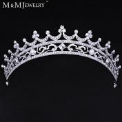 European Bride Style Rhinestone Crown Tiara Bridal Hair Jewellery Wedding Hair Accessories