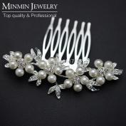 . Cheap Leaf Simulated Pearl Bridal Hair Combs Tiara Hairpin Hair Jewellery Wedding Accessories