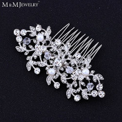 Handmade Simulated Pearl With Crystal Bridal Wedding Jewellery Hair Accessories Combs Tiara