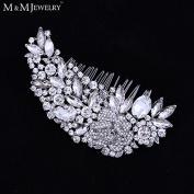 Luxurious Leaf Sharp Czech Rhinestone Bridal Hair Combs Hair Accessories Wedding Hair Jewellery Wedding Accessories