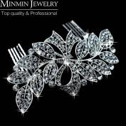 New 100% Luxurious Crystal Leaf Bowknot Imitation Gemstone Bridal Hair Combs Tiara Wedding Hair Accessories Hair Jewellery
