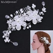 Top Quality 100% Handmade Simulated Pearl Bridal Hair Combs Hair Jewellery Wedding Hair Accessories