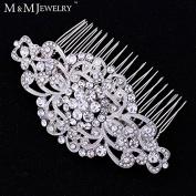 Gorgoues Top Crystal Bridal Hair Jewellery Flower Combs Wedding Accesories Headwear