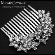 Original Design Leaf Crystal Bridal Hair Combs Hairpin Wedding Hair Accessories Hair Jewellery Imitation Gemstone Jewellery