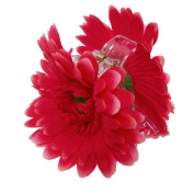 OWM Beauty Accessories Hair Red Gerbera Double Sided Jaw Hair Clip