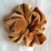 Golden Brown Velvet Scrunchies-Small