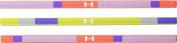 Under Armour Women's UA Colour Blocked Mini Headband 3-pack (Youth) Purple Ice/Bolt Orange/White Headband One Size