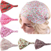 Eforstore Children Kids 6Pcs Floral Intersect Hair Band Wide Headband Head Wrap