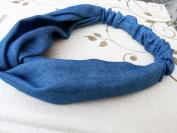 Eforstore NEW Elastic Denim Headband Intersect Hair Band Fresh Head Wrap