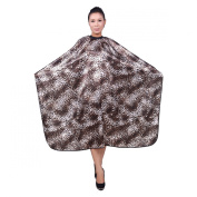 Hiliss Leopard Print Hairdressing cape salon barber hair cutting gown cover