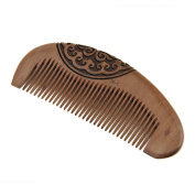 FakeFace Peach Wooden Comb Stereo Carves Hairdressing Tool Wood Peine Espeso