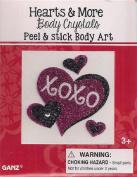 Hearts & More Body Crystals Peel & Stick Body Art