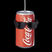 7.6cm Coca-Cola Can with Sunglasses Decorative Christmas Ornament
