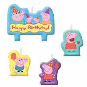 Amscan Peppa Pig Birthday Party Moulded Candle Cake Set Decoration, Multicolor,