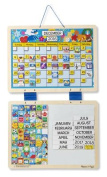 Melissa & Doug Wooden Hinged Magnetic Monthly Calendar