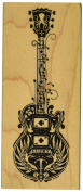 Inkadinkado Mounted Rubber Stamp 12cm x 5.1cm -Mindscape Guitar
