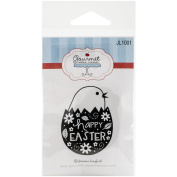Gourmet Rubber Stamps Cling Stamps 2.75inX4.75inHappy Easter Egg