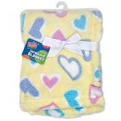 Regent Baby Crib Mates Blanket, Blue/Pink/Yellow, 80cm x 100cm