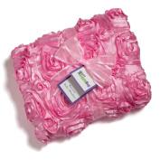 Ultra Soft Baby Blanket - Satin Rose 80cm x 100cm - Little Giggle Bug - Great Gift