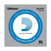 D'Addario Single Plain Steel .0115 String