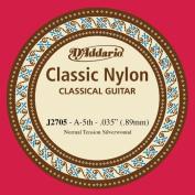 D'Addario Classic Nylon Guitar String, J2705/A-5th