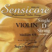 Sensicore Violin Strings - Medium 4/4 Scale - Single Silver D String