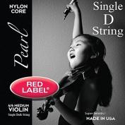 Red Label Pearl Violin Strings - Medium 4/4 Scale - Single D String