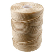 C-LON Bead Cord, Wheat- .5mm, 92 Yard Spool