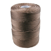 C-LON Bead Cord, Sepia- .5mm, 92 Yard Spool
