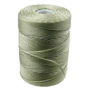 C-LON Bead Cord, Peridot Green - .5mm, 92 Yard Spool