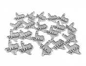 Set of Twenty (20) Silver Tone Pewter State of TEXAS Charms