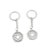 40 Pieces Keyring Keychain Keytag Key Ring Chain Tag Door Car Wholesale Jewellery Making Charms M8BN9 Pentacle