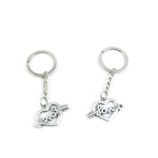 1 Pieces Keyring Keychain Keytag Key Ring Chain Tag Door Car Wholesale Jewellery Making Charms U6WP5 Love Heart