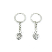 2 Pieces Keyring Keychain Keytag Key Ring Chain Tag Door Car Wholesale Jewellery Making Charms A9DD7 Love Heart