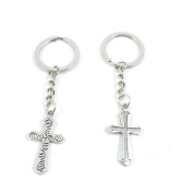 10 Pieces Keyring Keychain Keytag Key Ring Chain Tag Door Car Wholesale Jewellery Making Charms A7VC1 Latin Cross