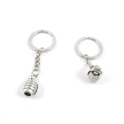 40 Pieces Keyring Keychain Keytag Key Ring Chain Tag Door Car Wholesale Jewellery Making Charms S8OO1 Hand Grenade