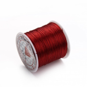 Linsoir Beads F392 Durable Strong Elastic Strings,40 metres/ roll,Wine Red Colour