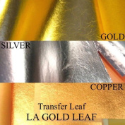 Imitation Gold(25) Imitation Silver(25) Genuine Copper(25) Transfer Leaf Sheets Gilding Art Crafts Bk Total 75 Pcs