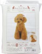 Hamanaka realistic wool felt lessons kit level 4 Toy Poodle H441-441