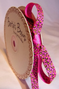 Bertie's Bows 9mm Hot Pink Leopard Print Ribbon on a 25m Roll