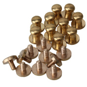 Solid Brass Luggage Leather Craft Belt Chicago Screws Nail Rivet Pack of 10