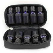 FLYMEI® Premium Quality Essential Oils Bag Travel Oil Carrying Case for Oil Bottles Organiser - Holds 10 Bottles of 5ml, 10ml, 15ml - Black