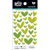 Illustrated Faith Basics Enamel Heart Stickers-Olive You